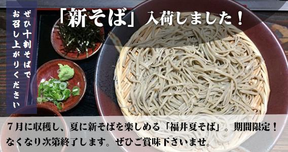 新そば入荷しました!7月に収穫し、夏に新そばを楽しめる「福井夏そば」。期間限定!なくなり次第終了します。ぜひご賞味くださいませ。